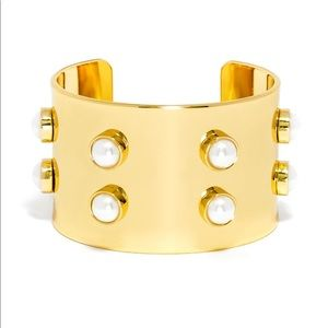 FREE Pearl Studded Gold Cuff